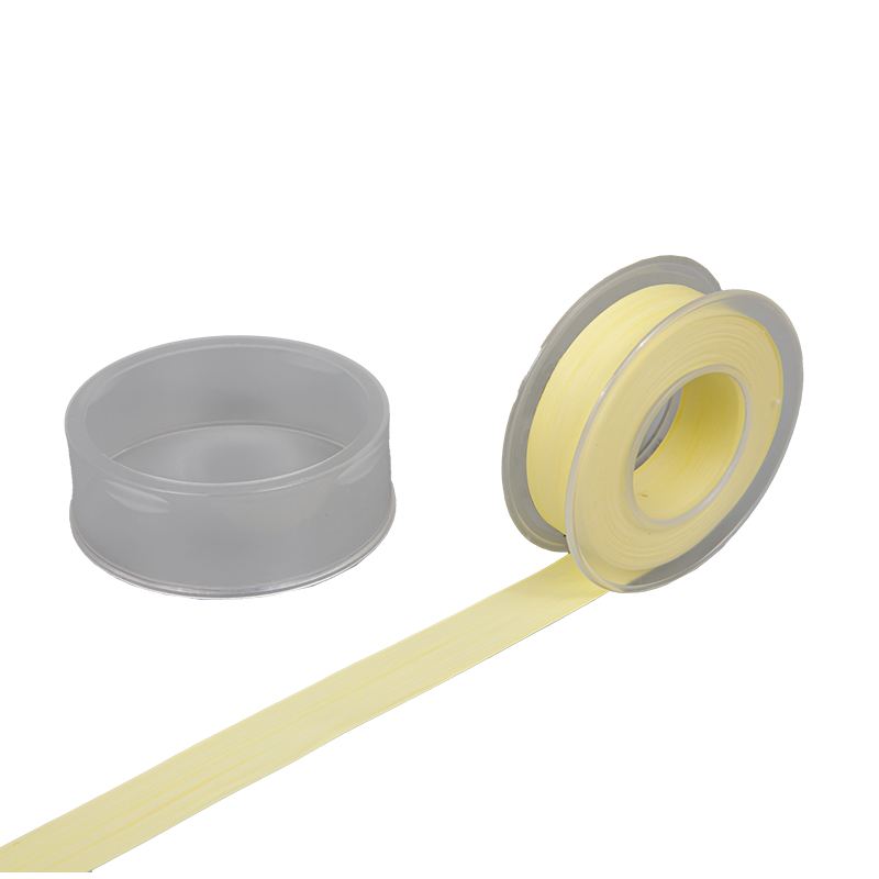 PTFE Thread Seal Tape for Water Pipe, Color Yellow, 25.4mm Width, 0.1mm thickness